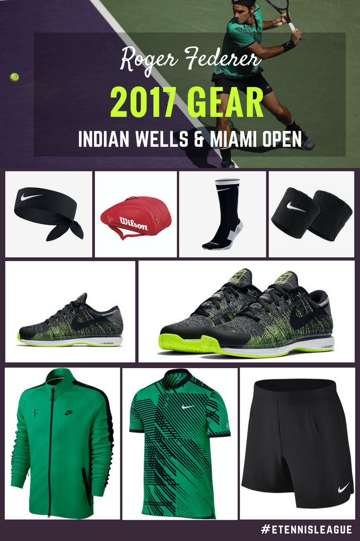 Roger Federer S 2017 Indian Wells Miami Open Gear Etennisleague Etennisleaguenation Roger Federer Rogers Tennis Tips