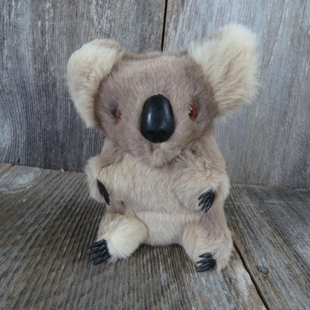 1 Vintage Koala Bear Plush Real Fur Australia Stuffed Animal At Grandma S Table Koala Bear Plush Koala Plush Koala Bear