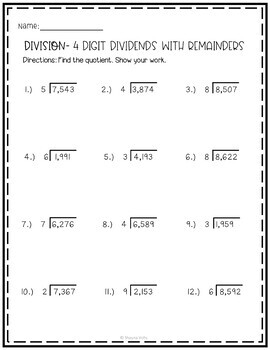 Multiplication And Division Worksheets 4th Grade By Shayna Vohs Division Worksheets Multiplication And Division Worksheets Pre Algebra Worksheets