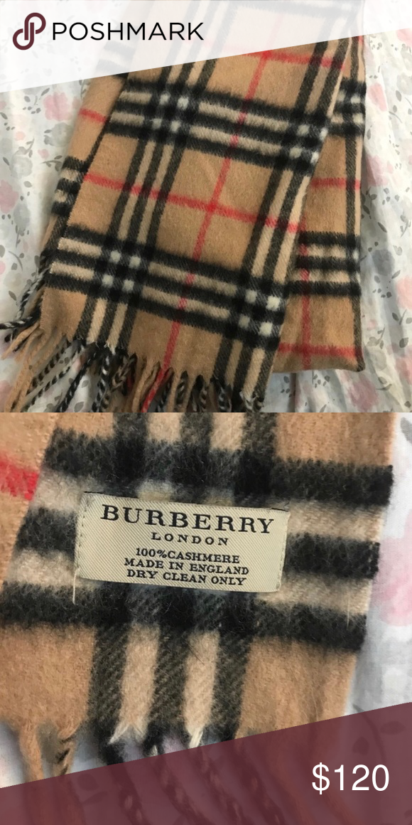 Authentic Burberry Scarf : authentic, burberry, scarf, Authentic, Burberry, Scarf, Cashmere, Condition, About, Inches, Te…, Scarf,, Women, Shopping,, Clothes, Design