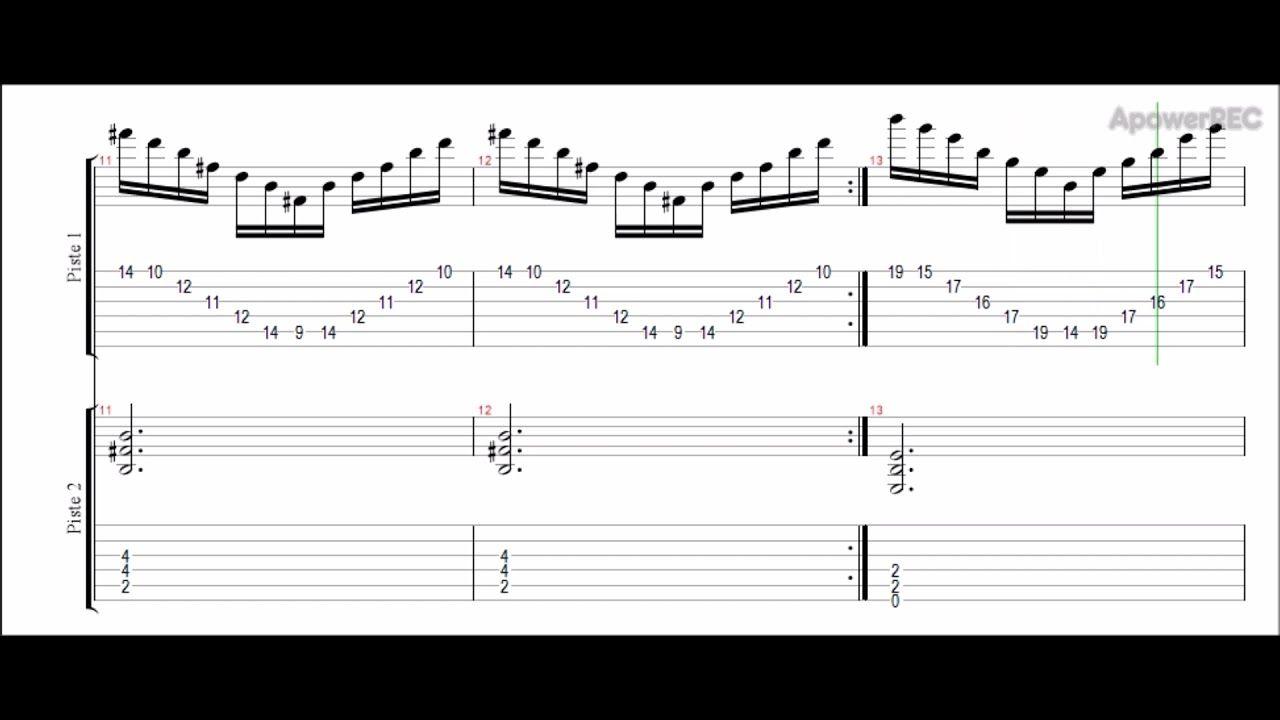 Hi Melodic Guitar Arpeggios 1 D Tuning Tab Amp Backtrack