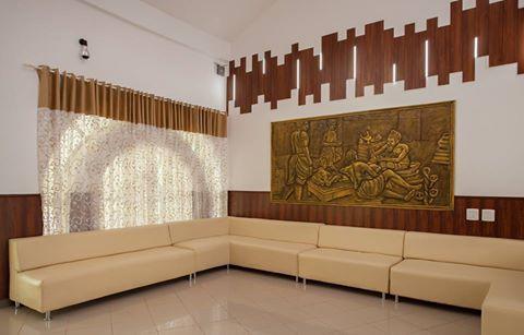A relaxing corner at Aadya Resort, Bangalore.
