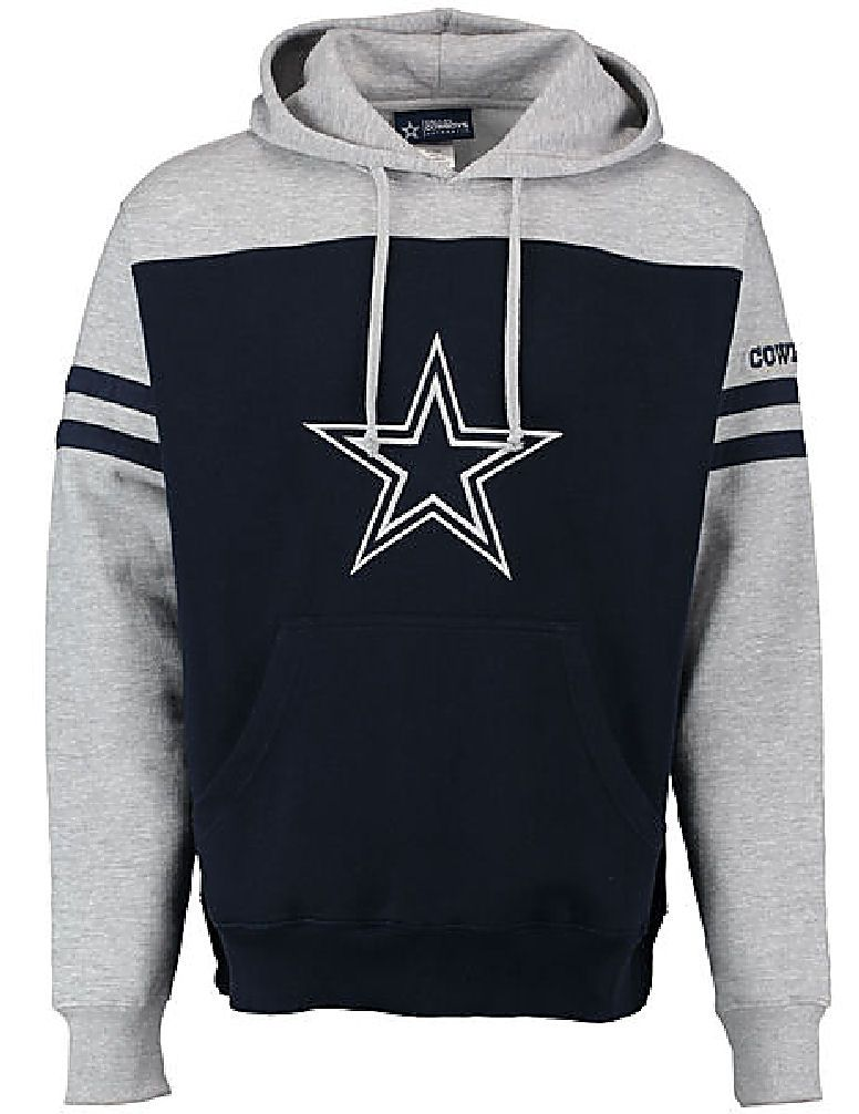 on sale e1302 6953a Dallas Cowboys Mens Color Blocke Brooks Pullover Screened ...