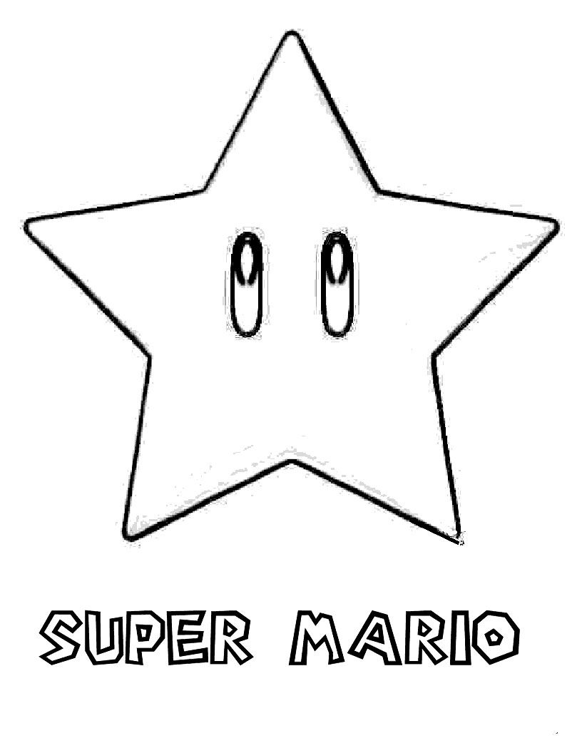 Estrella Super Mario Template Star Mario Star Coloring Pages