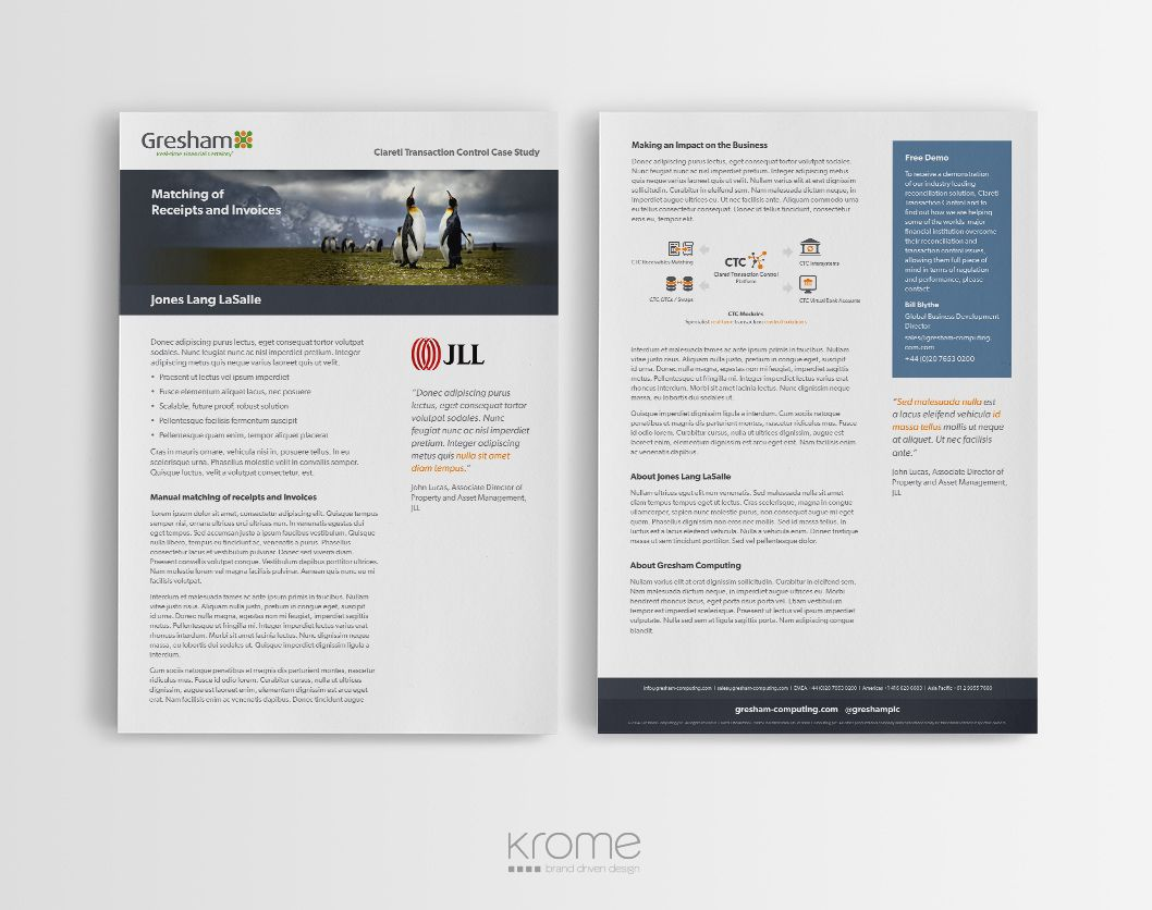 Gresham A4 Case Study Template Design | Layout. | Pinterest ...