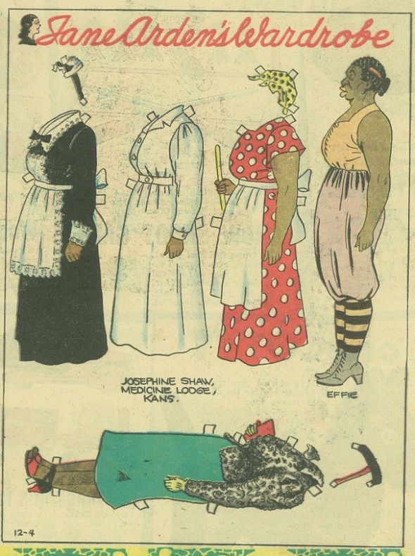 Effie Slivers_appeared in Lena Pry and Jane Arden comic strips_by Monte Barrett…
