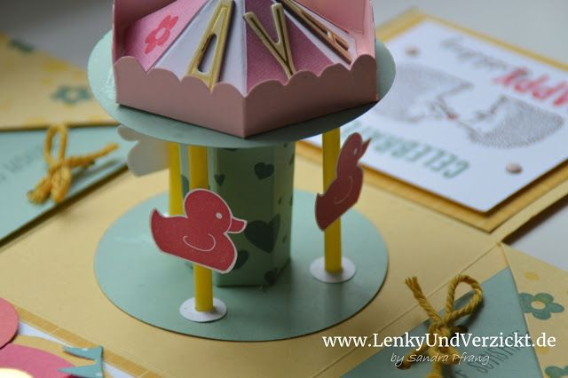 Today I made a explosion box for the 2nd birthday of our friends' daughter using Stampin' Up! supplies, here: Something for the baby. More to see on my blog Lenky & Verzickt: Explosionsbox zum 2. Geburtstag
