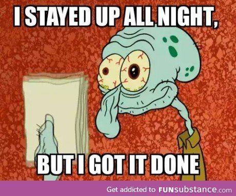 College Kids Handing In Assignments Like Funsubstance Com Funny Spongebob Memes Squidward Nursing School Humor