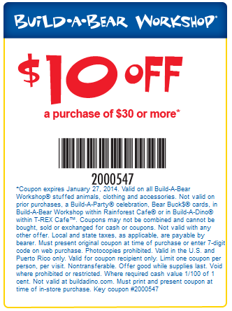 Pinned January 22nd 10 Off 30 At Buildabear Workshop Or Online Via Promo Code 2000549 Coupon Via The Coupon Build A Bear Coupons Build A Bear Coupon Apps