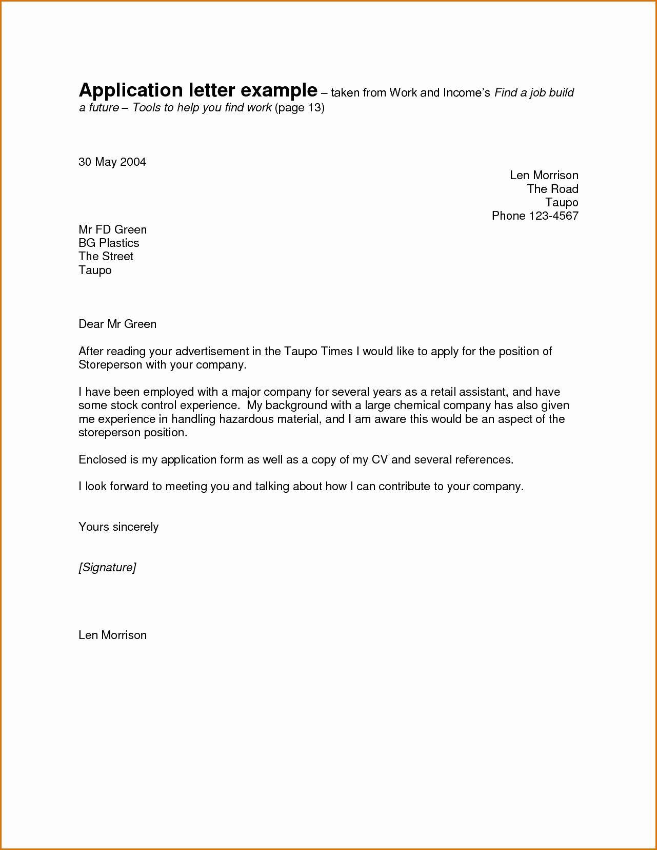 30 Good Cover Letter In 2020 Job Application Letter Sample