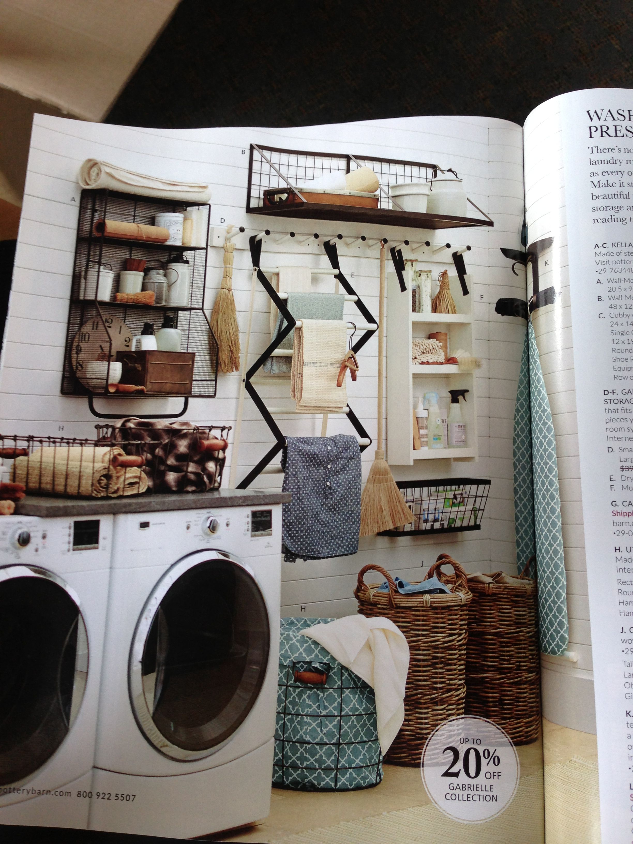 Pottery Barn Wall Drying Rack Addition Laundry Mudroom
