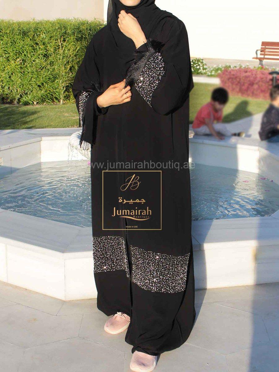 Https Jumairahboutiq Ae Product Elegant Designer Abaya 3 Abayas Fashion Black Abaya Designs Fashion