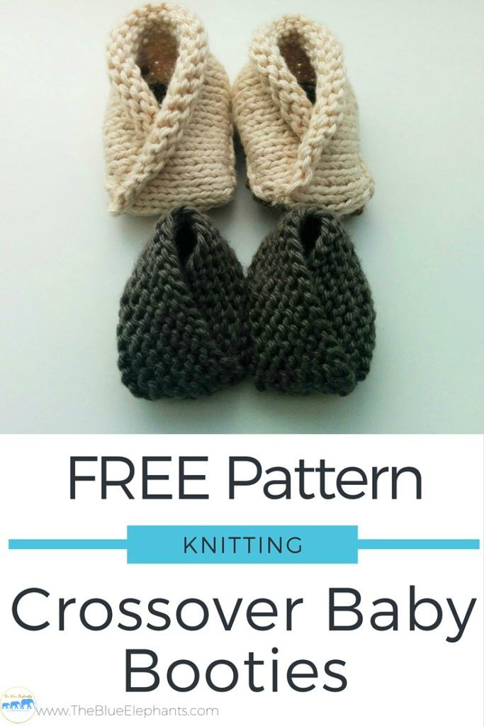 Free Knitting Pattern Crossover Baby Booties Crochet Pinterest