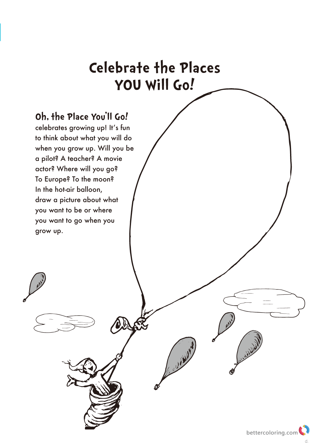 Image Result For Oh The Places Youll Go Coloring Pages