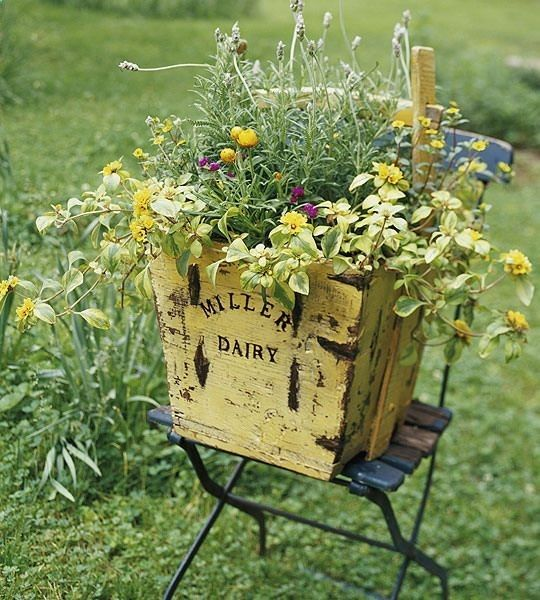 Vintage Outdoor Planters - Cool Nature