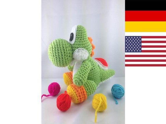 Yoshi Dino Pattern Amigurumi Pdf Deutsch English Häkeln