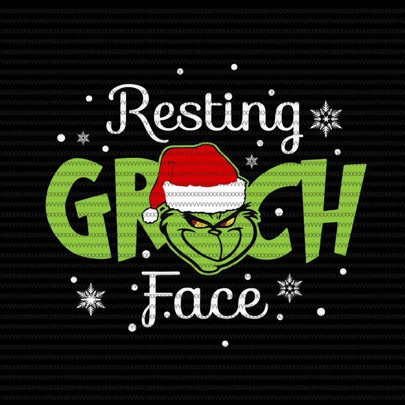 Resting Grinch Face Svg Grinch Svg Grinch Funny Christmas Svg Dxf Eps Png File Vector T Shirt Design Artwork Grinch Face Svg Christmas Svg Christmas Humor