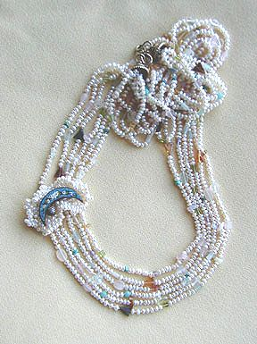 Mosaic Moon Necklace