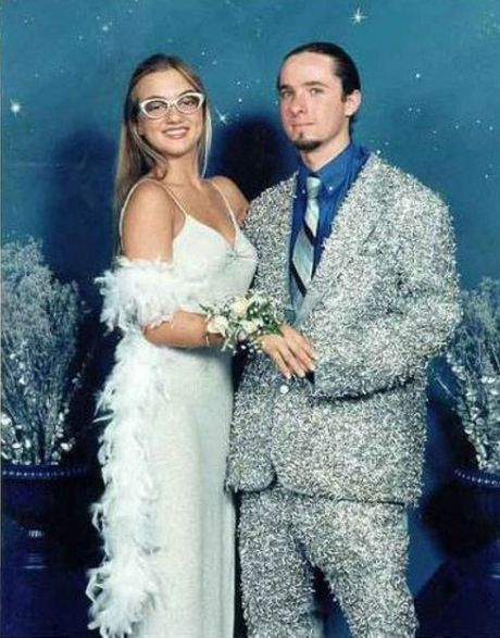 She\'s so proud of the suit she knit him out of Christmas tinsel ...