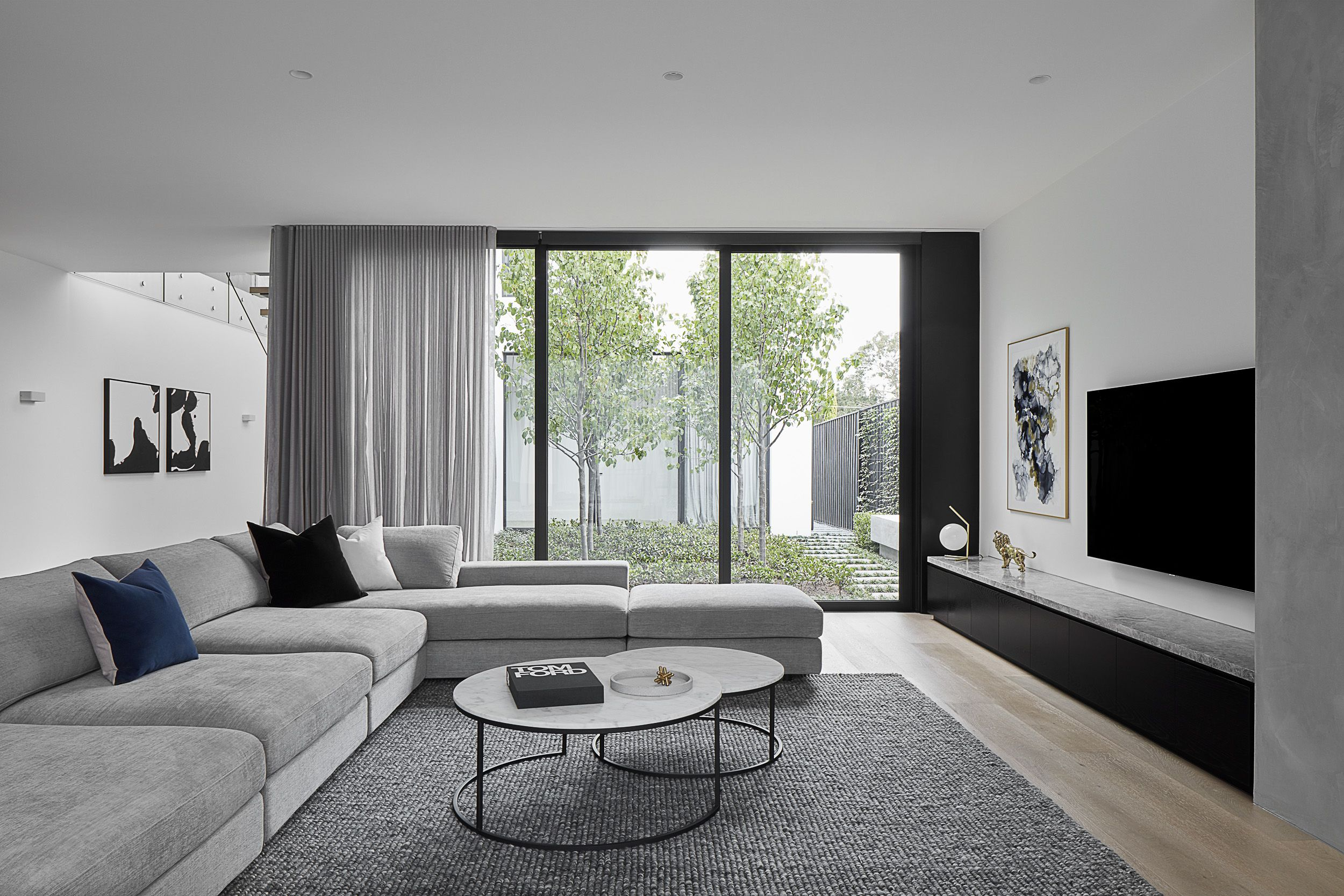 Award Winning Jasper Sofa From King Living And Seymour Chair Featured In Contemporary Design Interio Classy Living Room Living Room Renovation Room Renovation