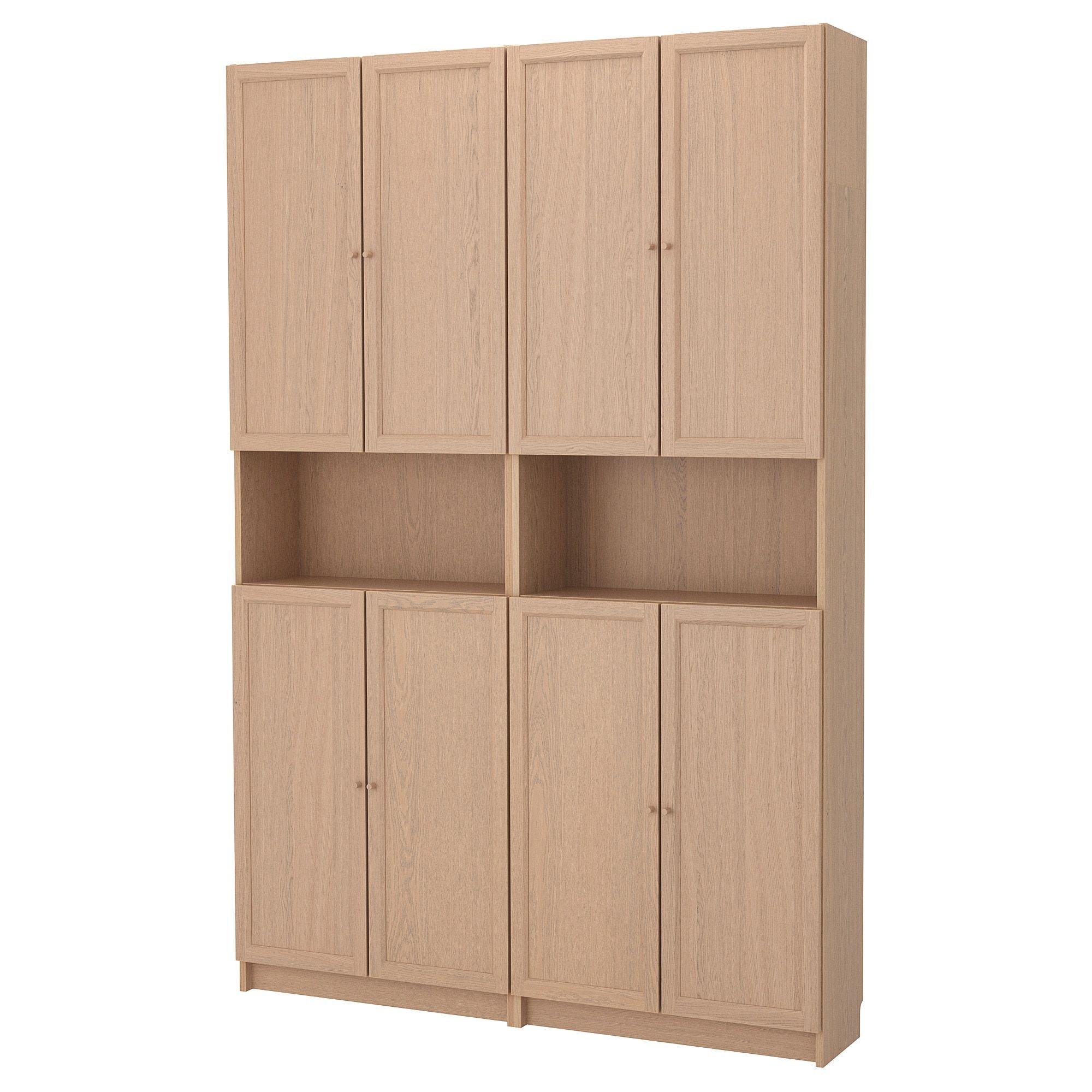 Ikea Billy Oxberg Doors With Height Extension Unit Doors Can Be Placed Wherever Billy Oxberg Billy Bucherregal Bucherregal