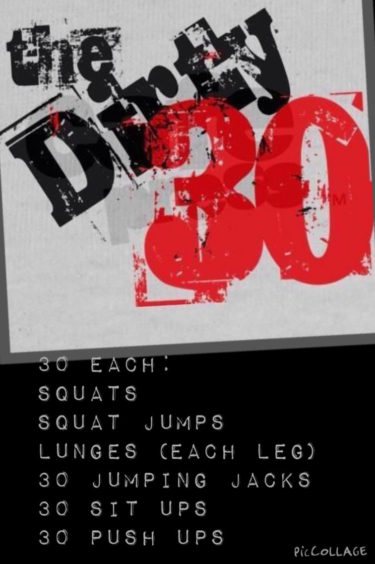180 rep dirty thirty workout