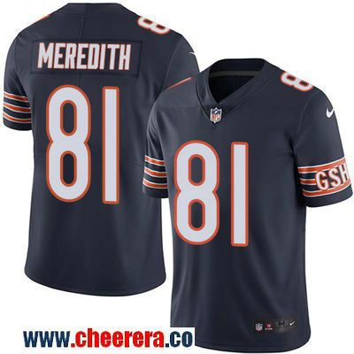 04f207ab5 Men s Chicago Bears  81 Cameron Meredith Navy Blue 2016 Color Rush Stitched  NFL Nike Limited Jersey