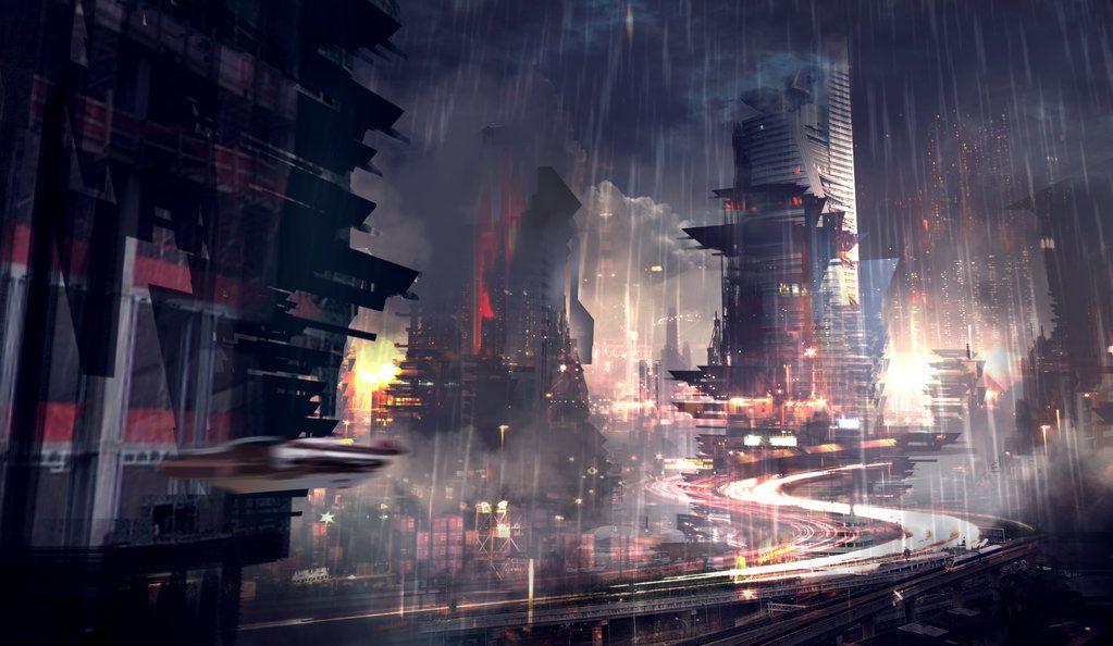 Pin By R On Art Futuristic City City Wallpaper Cyberpunk