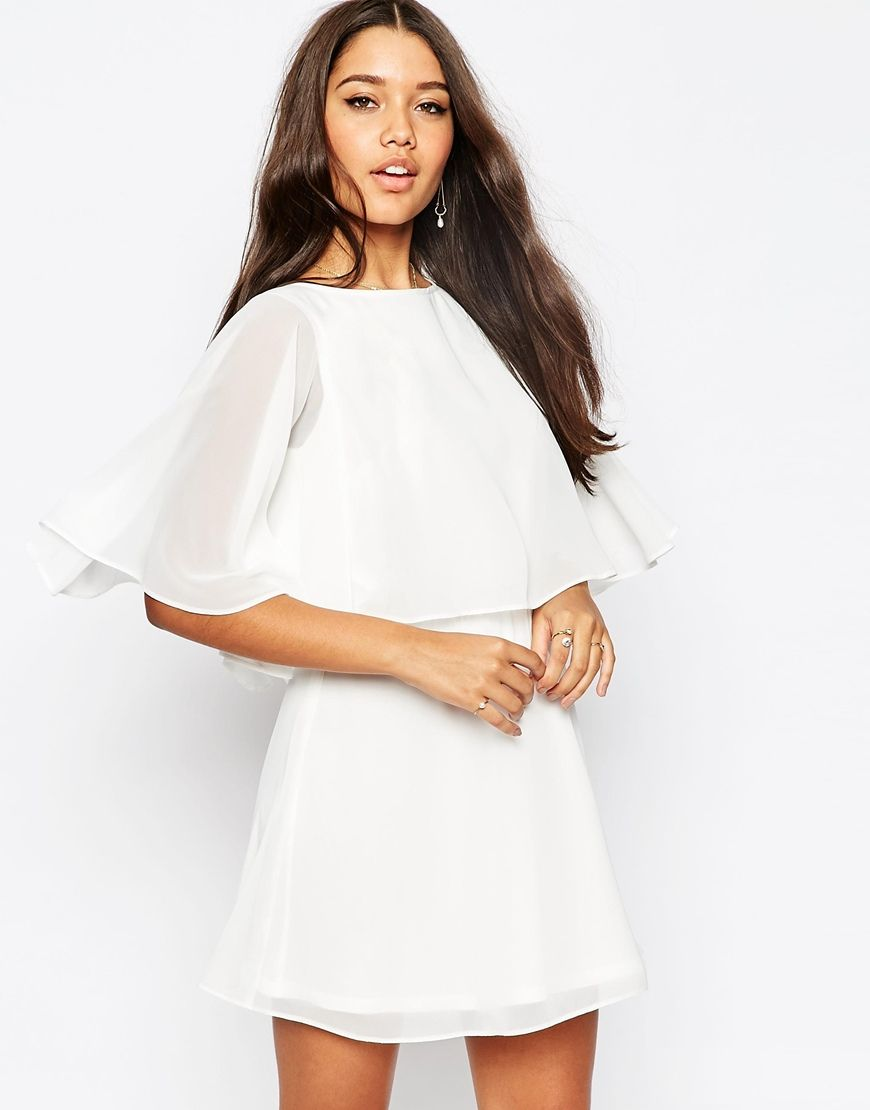Image of asos crop cape mini skater dress outfit pinterest