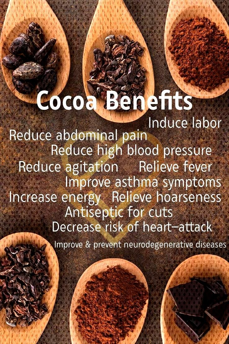 Cacao seems to have an almost endless list of benefits to health. Remember that the less processed,
