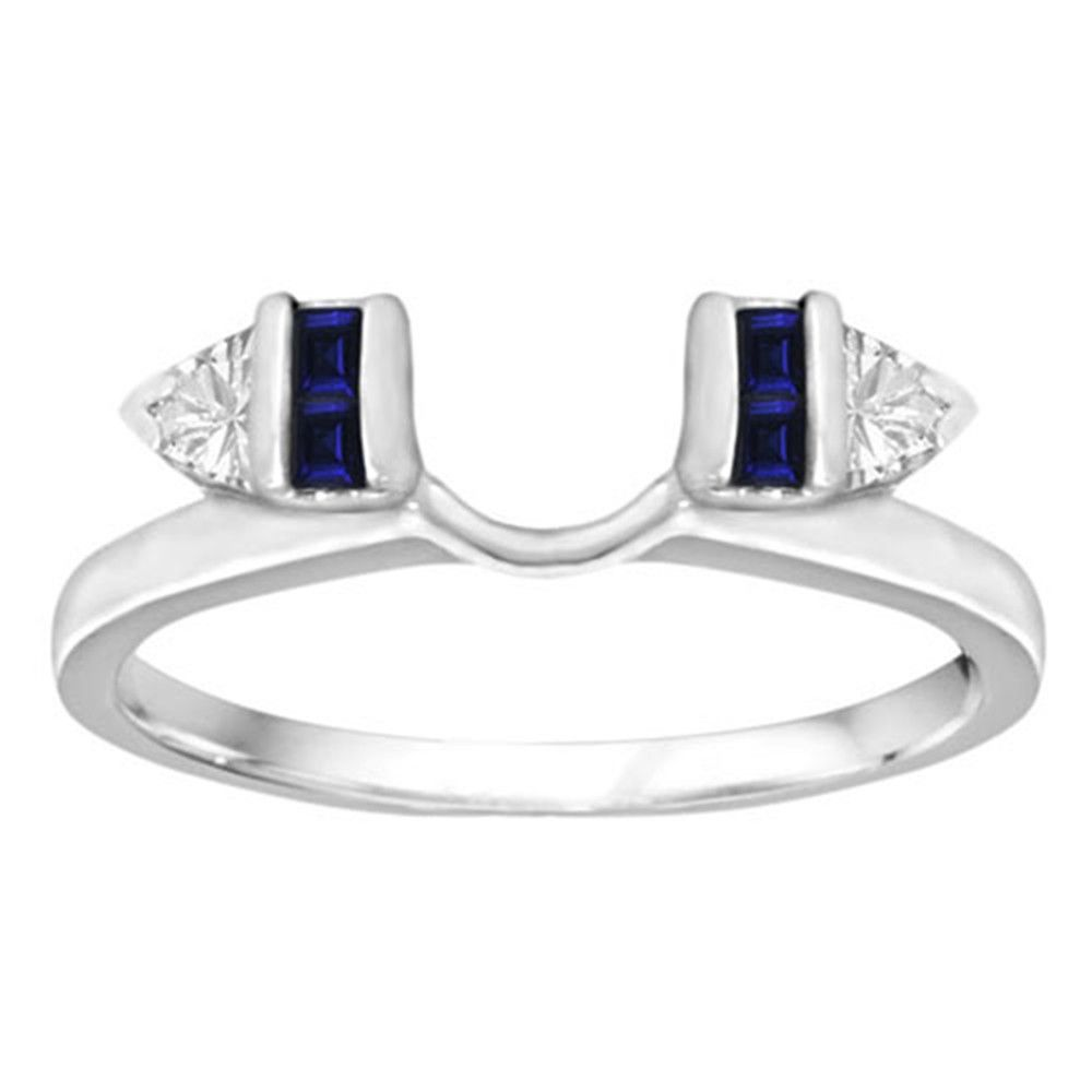 Cheap Sapphire Ring Enhancers For 1 Carat Princess Cut Diamond