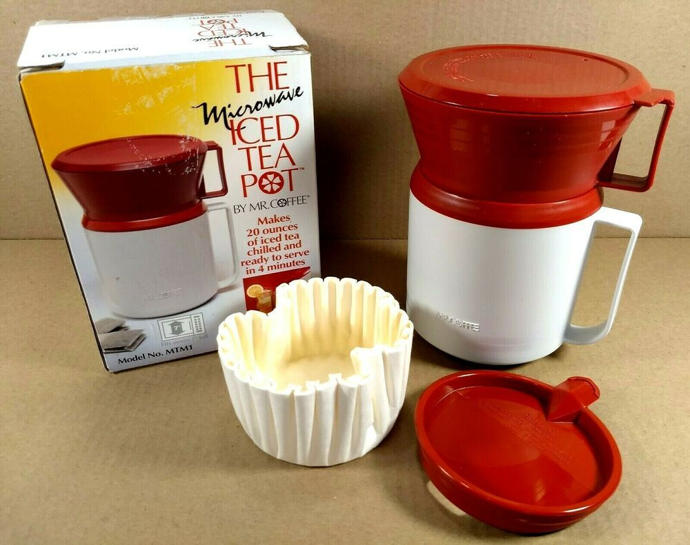 MR COFFEE Microwave Iced Tea Maker Brewing Pot 20 oz