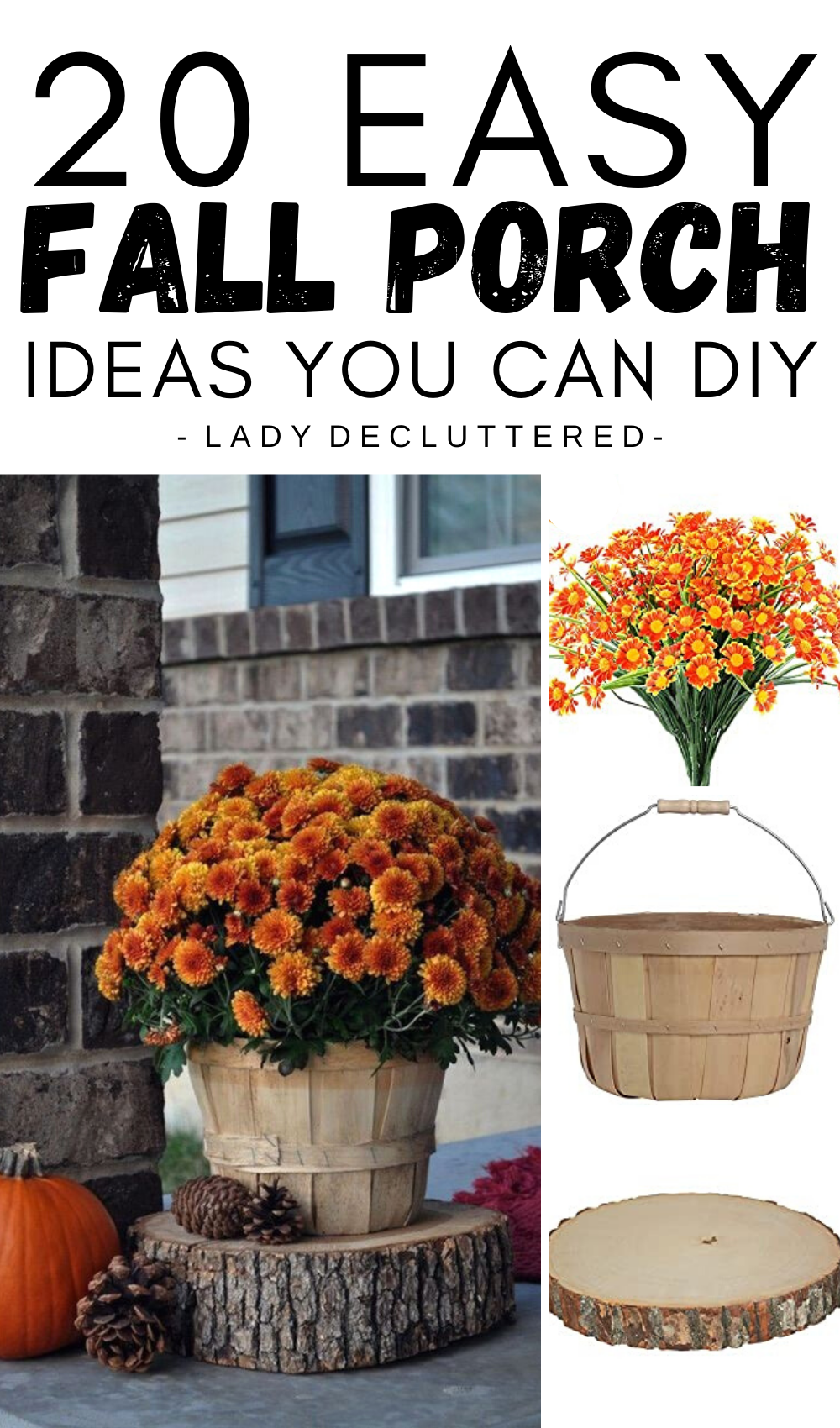 20 Simple Fall Porch Decorating Ideas Lady Decluttered Fall Decorations Porch Fall Front Porch Decor Fall Outdoor Decor
