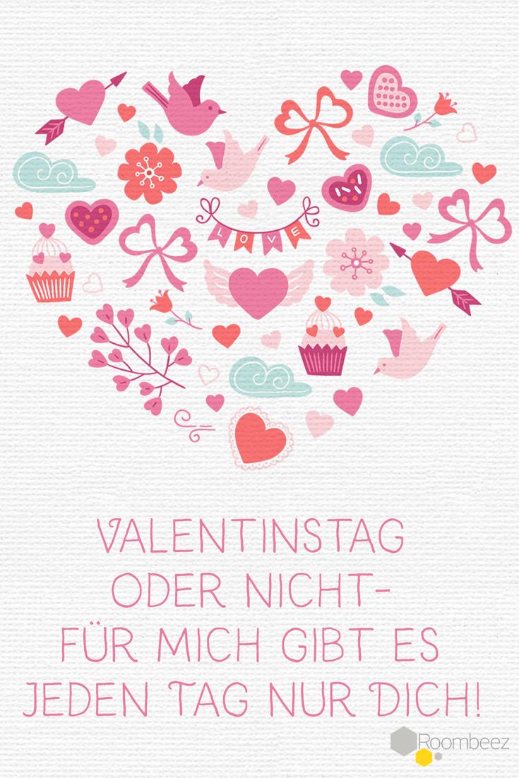 Valentinstag-Sprüche ➩ Mit Anleitung für Valentinskarte | Laute ...