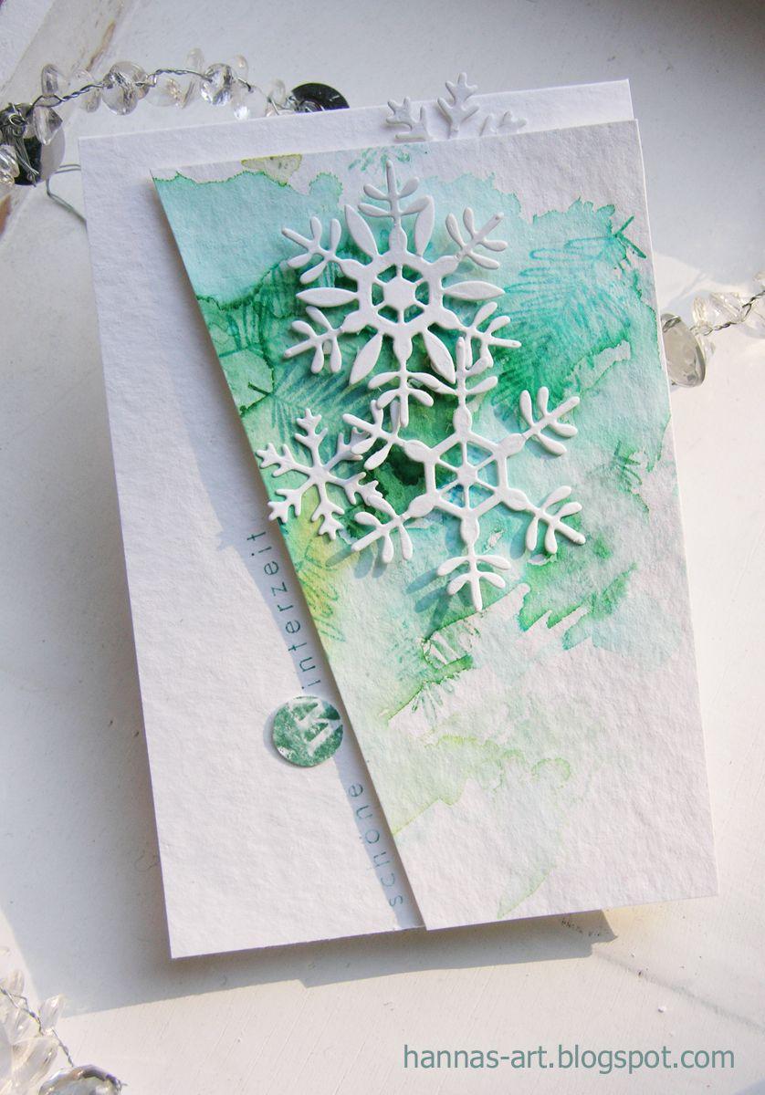 winter und weihnachtliche karten mit aquarellierten. Black Bedroom Furniture Sets. Home Design Ideas