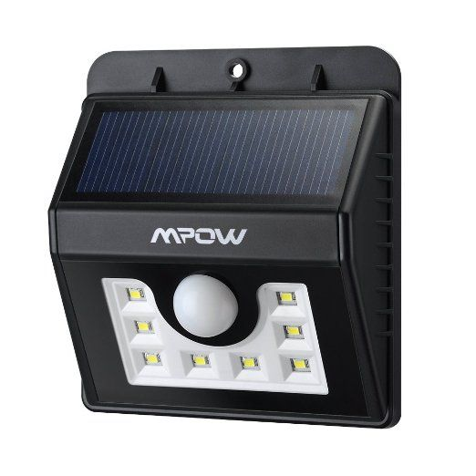 Mpow super bright 8 led solar powered wireless security light mpow super bright 8 led solar powered wireless security light weatherproof outdoor motion sensor lighting with aloadofball Choice Image