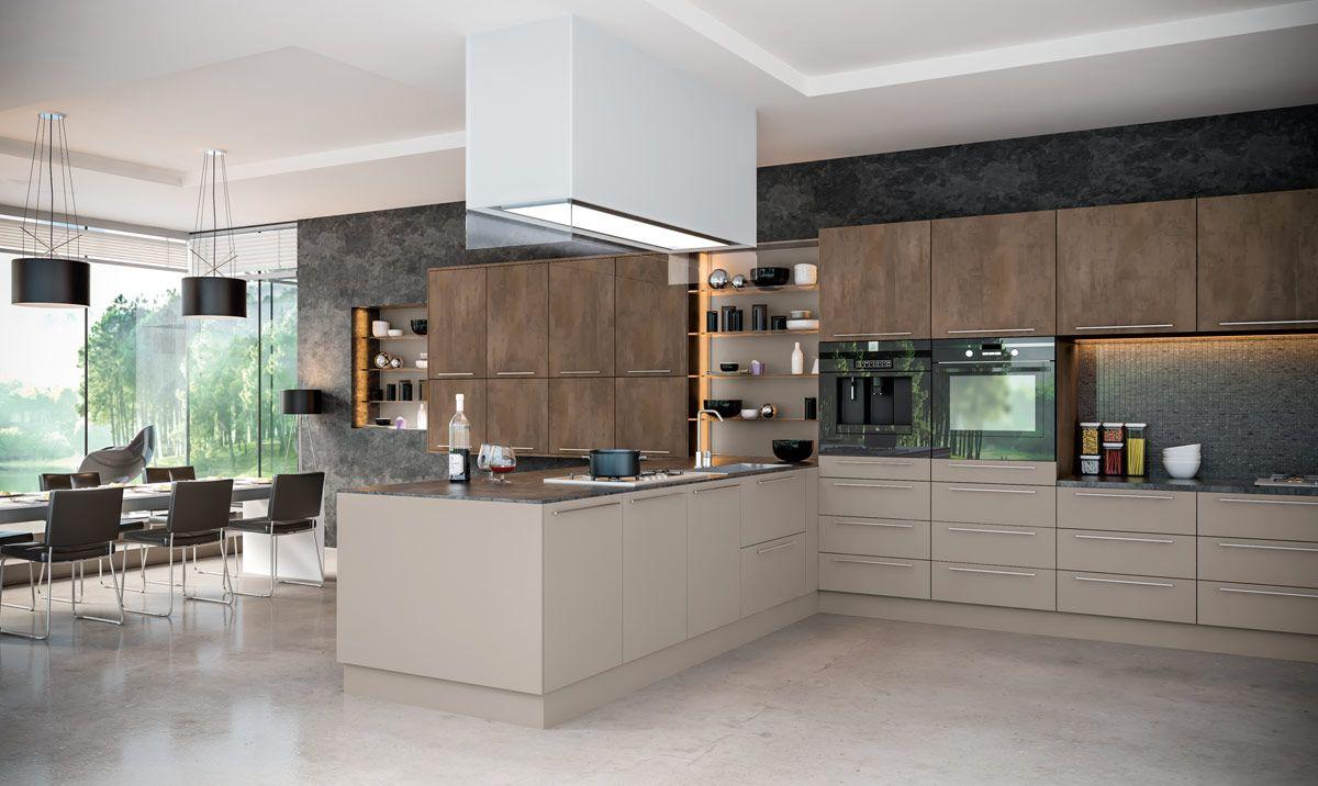 Podobny Obraz Kuchnie Kuchenki Szafki Kuchenne Pinterest - Brown and grey kitchen designs