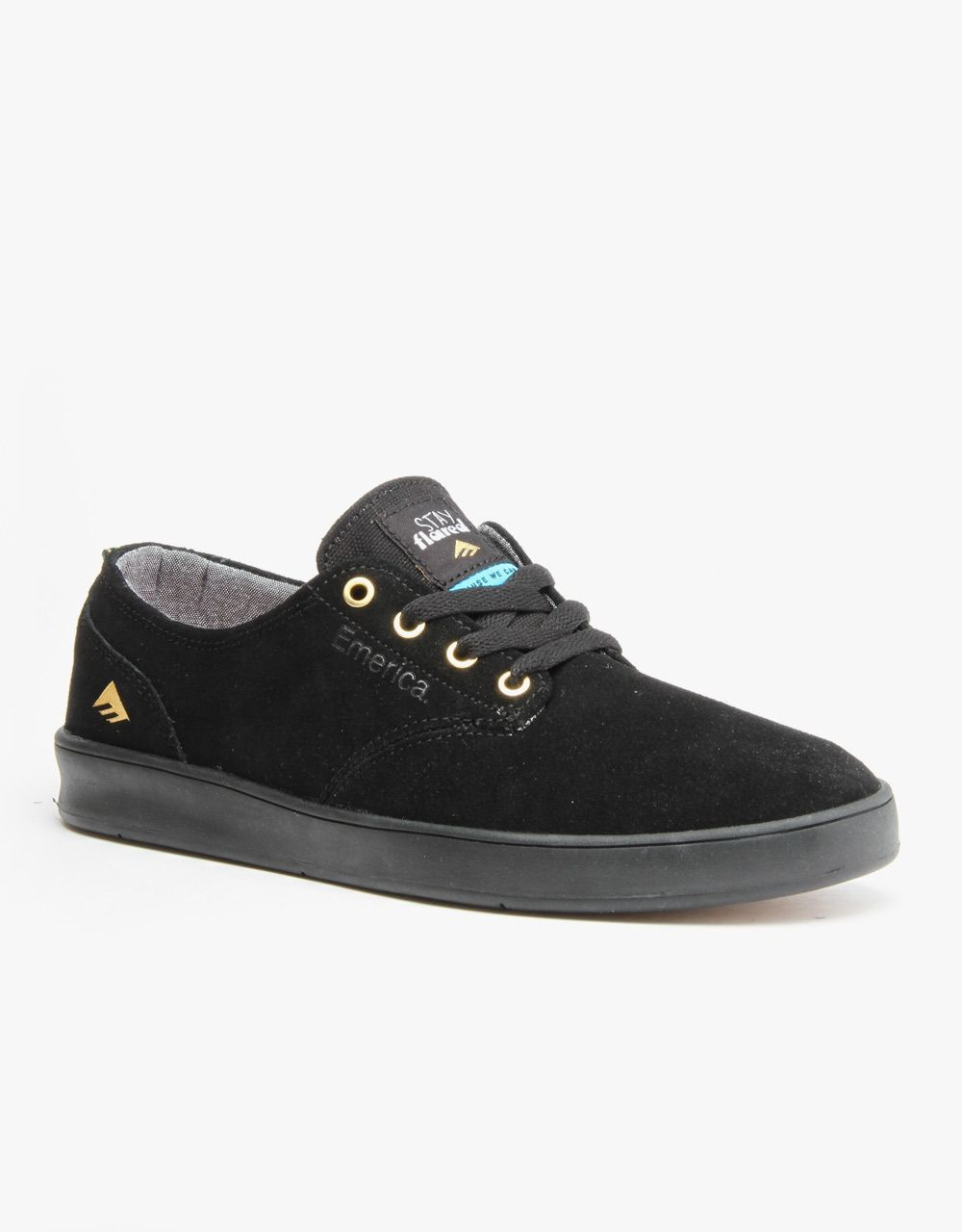 b0b02896a3 Emerica x Lakai Romero Laced Skate Shoes - Black Black
