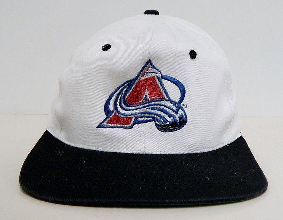 90s Colorado Avalanche Snap Back Ball Cap by KC by BeyondLeaf @etsy #coloradoavalanche #avalanche #colorado #etsy #nhl #hockey #hockeyleague #prohockey