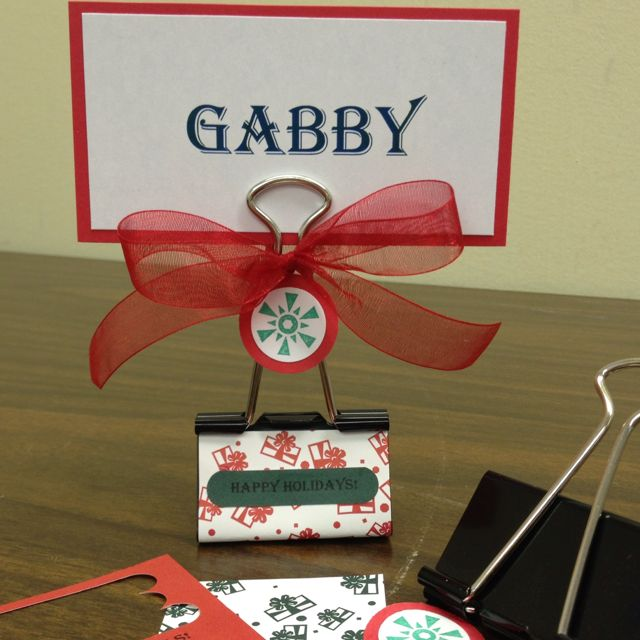 Cute Diy Christmas Place Card Holder Large Binder Clip 2 X 3 1