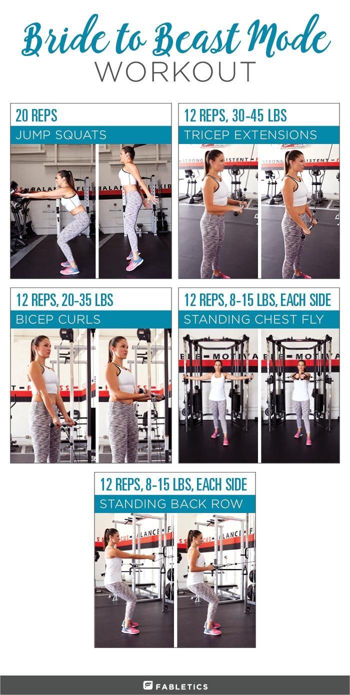 Beast Mode Bride A Pre Wedding Weight Training Workout Wedding Workout Plan Wedding Workout Weight Training Workouts