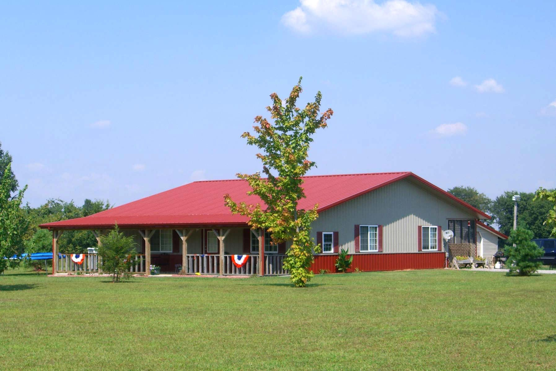 Metal Building Design Ideas elegant red metal building home can be decor with white door can add the beauty inside 3d church building design ideas Building A Pole Barn House Daily Woodworking March 2015