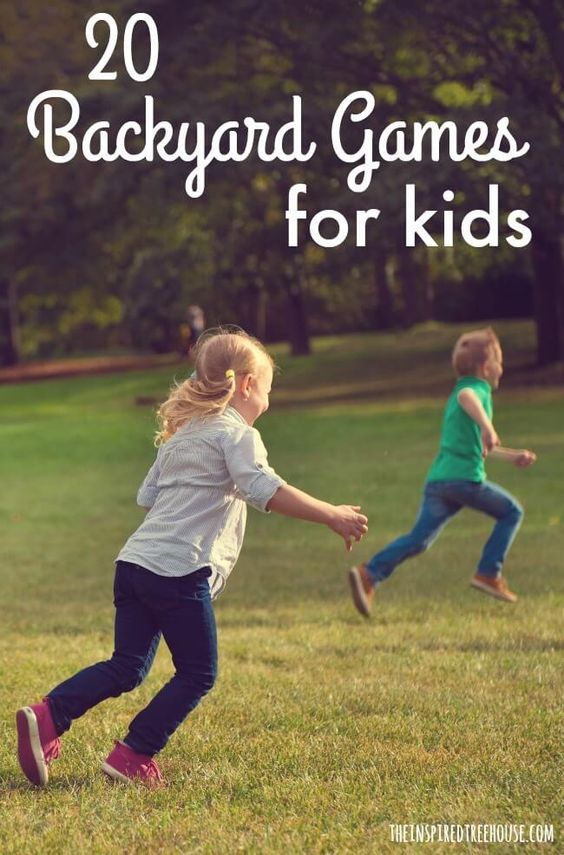 in the backyard 20 group games for kids whole body play
