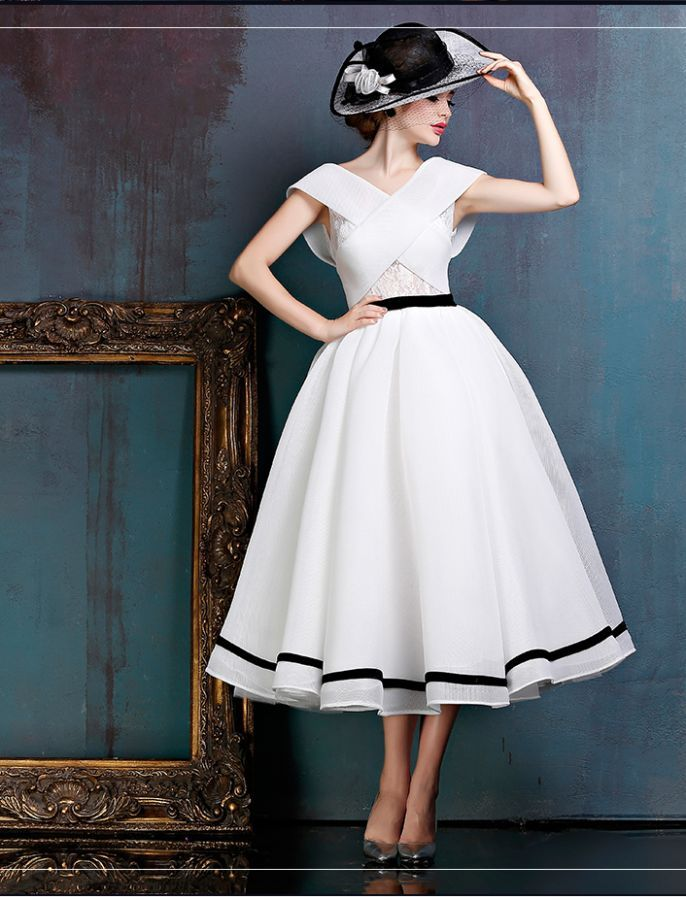 Black and White Midi Vintage Ball Gown | Fashionista | Pinterest ...
