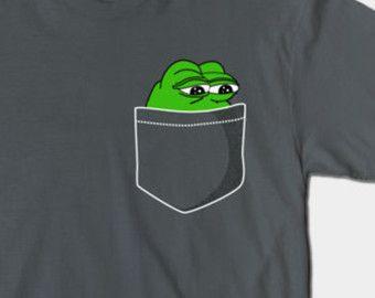 23581bb22092ec4bc0524c55adcdf1cc pepe frog pocket t shirt sad frog meme shirt dank meme star