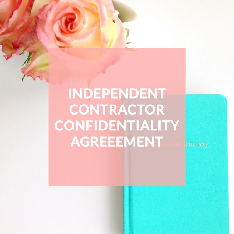 Independent Contractor Confidentiality Agreement - Contract
