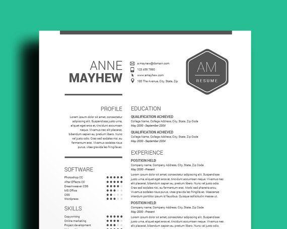 Resume Template  Cv Template  Mac  Pc  Professional Cv  Black
