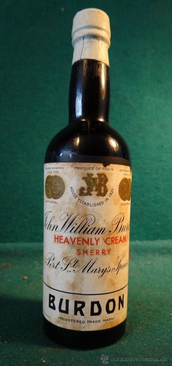 Compro Botellas De Vino Antiguas Botellin William Burdon Sherry Puerto De Sta Maria Cadiz