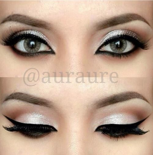 A Nice Silver Look For Green Eyes Eye Makeup Dramatic Eye Makeup Makeup