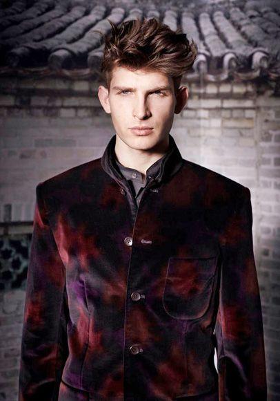 Shanghai Tang Mandarin Collar Silk Velvet Jacket